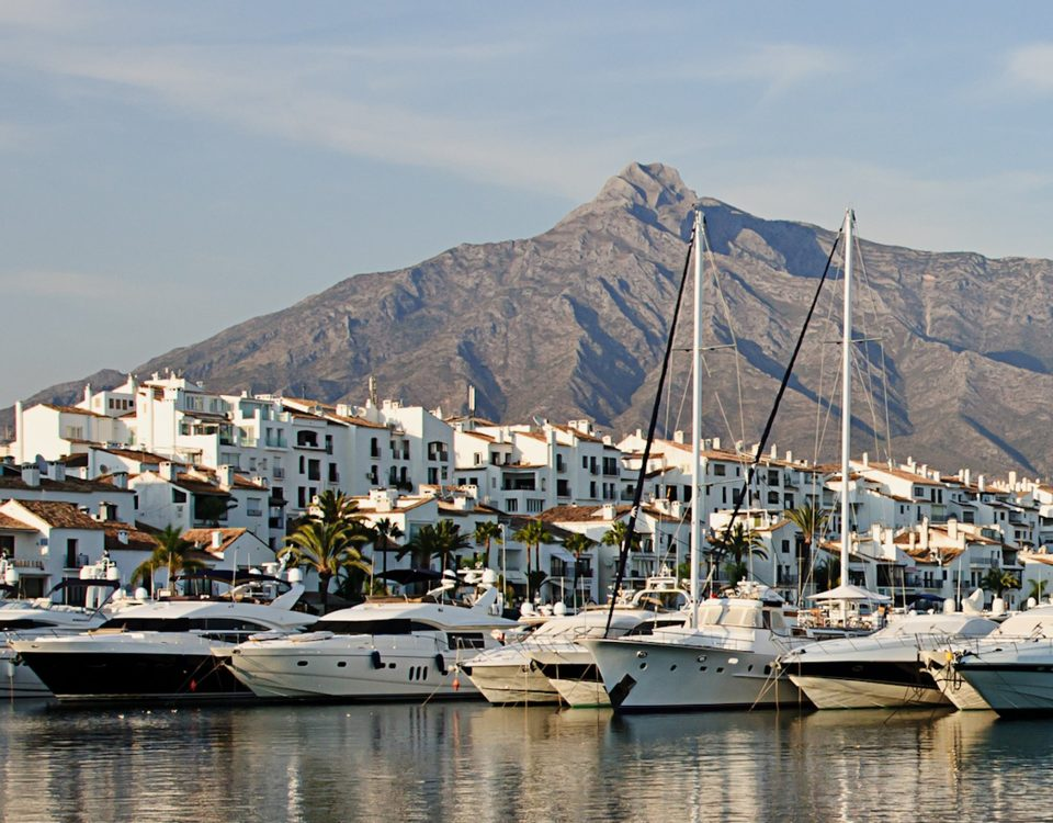 View of Marbella luxury destination Costa del Sol
